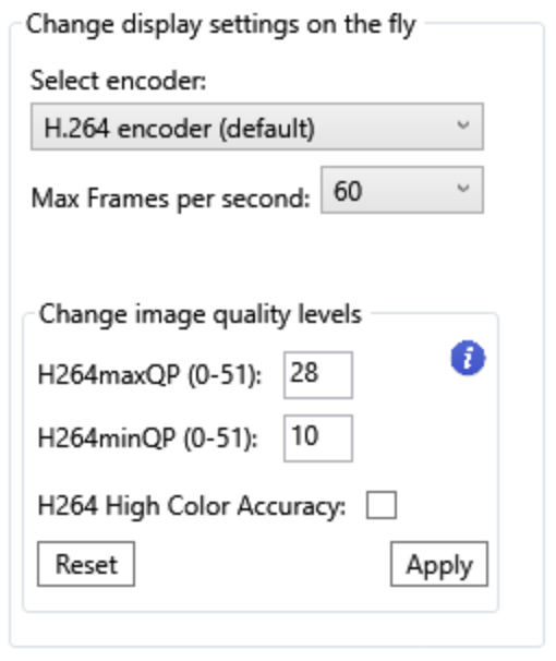 Preview RDanalyzer Change Settings